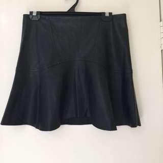 Sportsgirl Leather Look Skirt