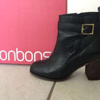 Leather Ankle Boots Bonbons