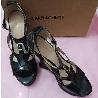 Reprice - Wedges karen & chloe black size 37