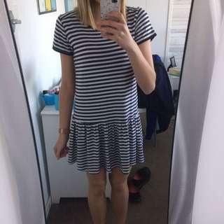 Valleygirl Strippy Dress Size 8