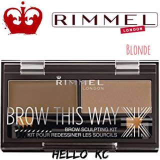 💖INSTOCKS💖 RIMMEL LONDON Brow This Way Brow Sculpting Kit - BLONDE