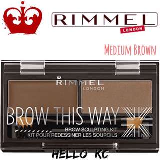 💖INSTOCKS💖 RIMMEL LONDON Brow This Way Brow Sculpting Kit - MEDIUM BROWN