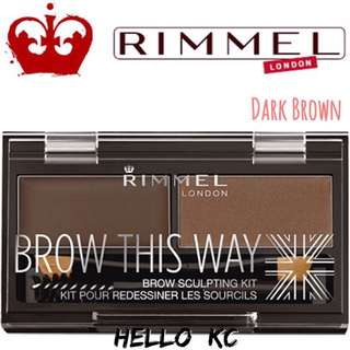💖INSTOCKS💖 RIMMEL LONDON Brow This Way Brow Sculpting Kit - DARK BROWN