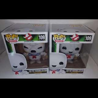 Stay Puft Toasted & Stay Puft Set of 2 Funko Pop