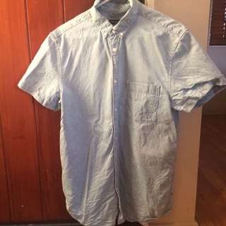 Light Blue Short Sleeved Shirt