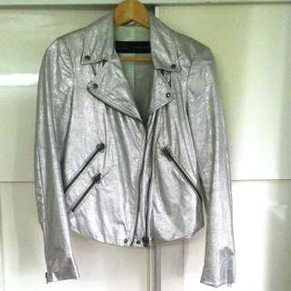 Zara Silver Biker Jacket