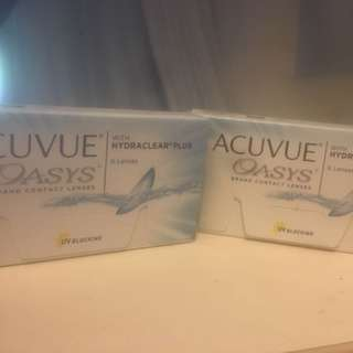 Acuvue Oasys 透明度數 Con