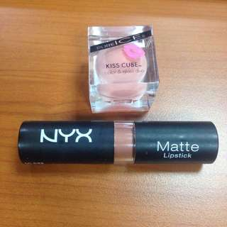 Take All! Nyx Matte Lipstick And Pure Ice Kiss Cube