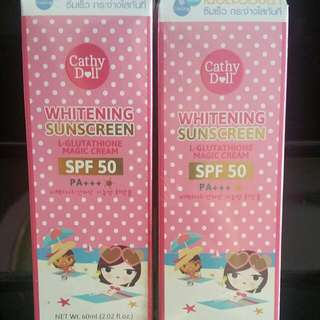 Cathydoll Whitening Sunscreen L-GLU MAGIC CREAM