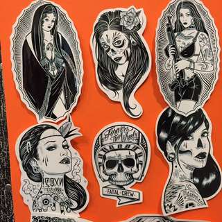 Rad Tattoos Girl Sticker