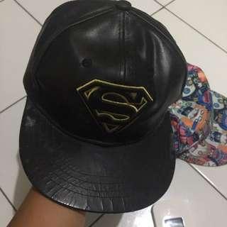snapback leather superman