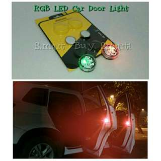Car Door Safety LED Light (No Wiring Is Required! Easy DIY)(2pc. /Pack)(RGB Colors)
