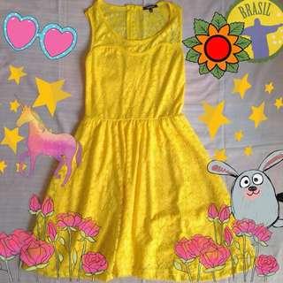 Morgan Yellow Dress