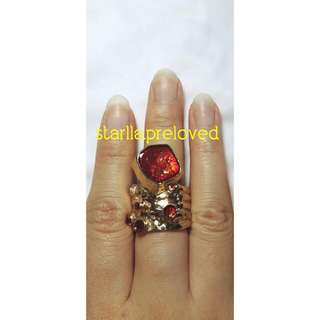 Unique Red Gold Ring