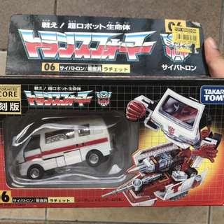 takara tomy transformers encore g1 ratchet