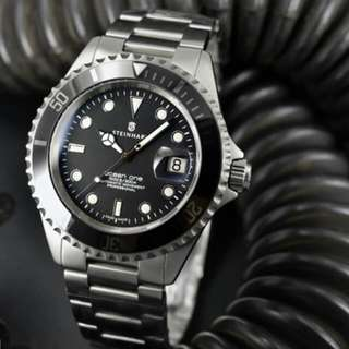 Steinhart Ocean One Automatic Mechanical Watch With Date And Ceramic Inlay Bezel