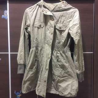 墨綠 風衣外套