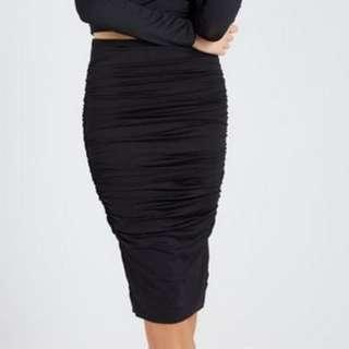 SALE Supre Luxe Basics Midi Skirt Black