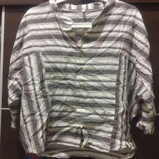 棉麻 七分袖專櫃上衣