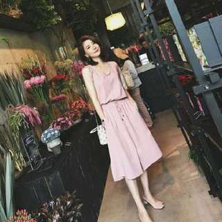A-line Dress In Blush Pink