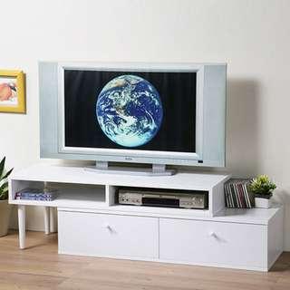 北歐風格多功能收納伸縮電視櫃/視聽櫃/茶几桌