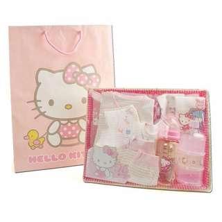 Hello Kitty Newborn Feeding Nursing Clothes Baby Shower Gift Hamper for Baby Girls