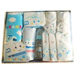 Train Newborn Feeding Nursing Clothes Baby Shower Gift Hamper for Baby Boys