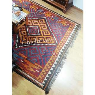 Antique Afghan Kilim Rug