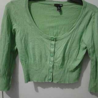 Crop Cardigan H&M Green