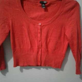 Crop Cardigan H&M Red