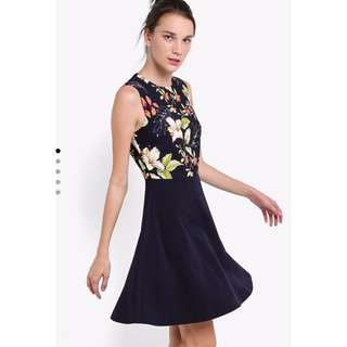 Zalora - Collection Printed Fit & Flare