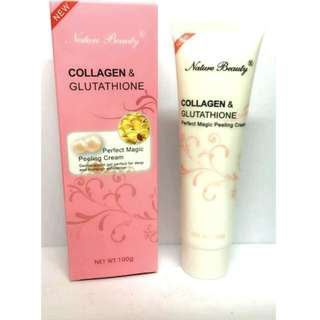 Nature Beauty Collagen and Gluthathione Peeling Cream 100g