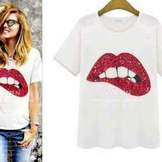 IMPORTED LIPS SEQUINS DESIGN