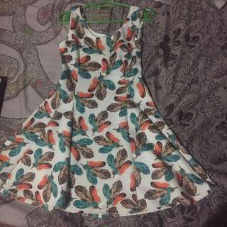 Feather Skater Dress