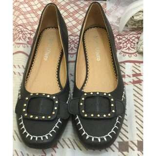 Mario D'boro Flat Office Shoes - Black