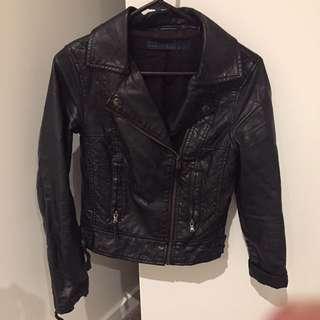 ZARA PU Leather Jacket Size XS