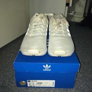ADIDAS ZX FLUX WHITE Size 10