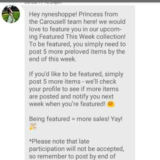 From Carousell Team 💕💕💕