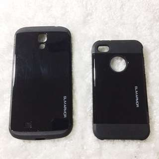 iPhone 4s and Samsung Galaxy S4 black case