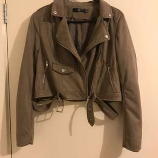 MISSGUIDED Suede Jacket