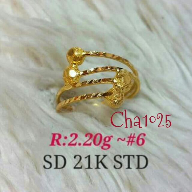 21k Saudi Gold Ladies Ring