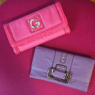 GUESS Vintage Wallets Pink And Purple