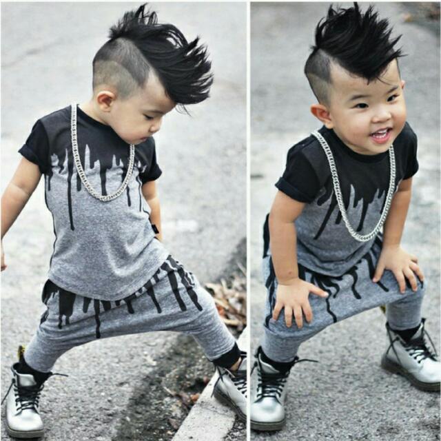 59d1000e8 2pcs Newborn Toddler Infant Kids Baby Boy Clothes T-shirt Tops+Pants ...