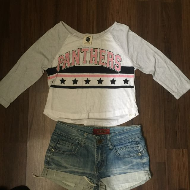 3/4 Crop Top (Cotton on) & Shorts
