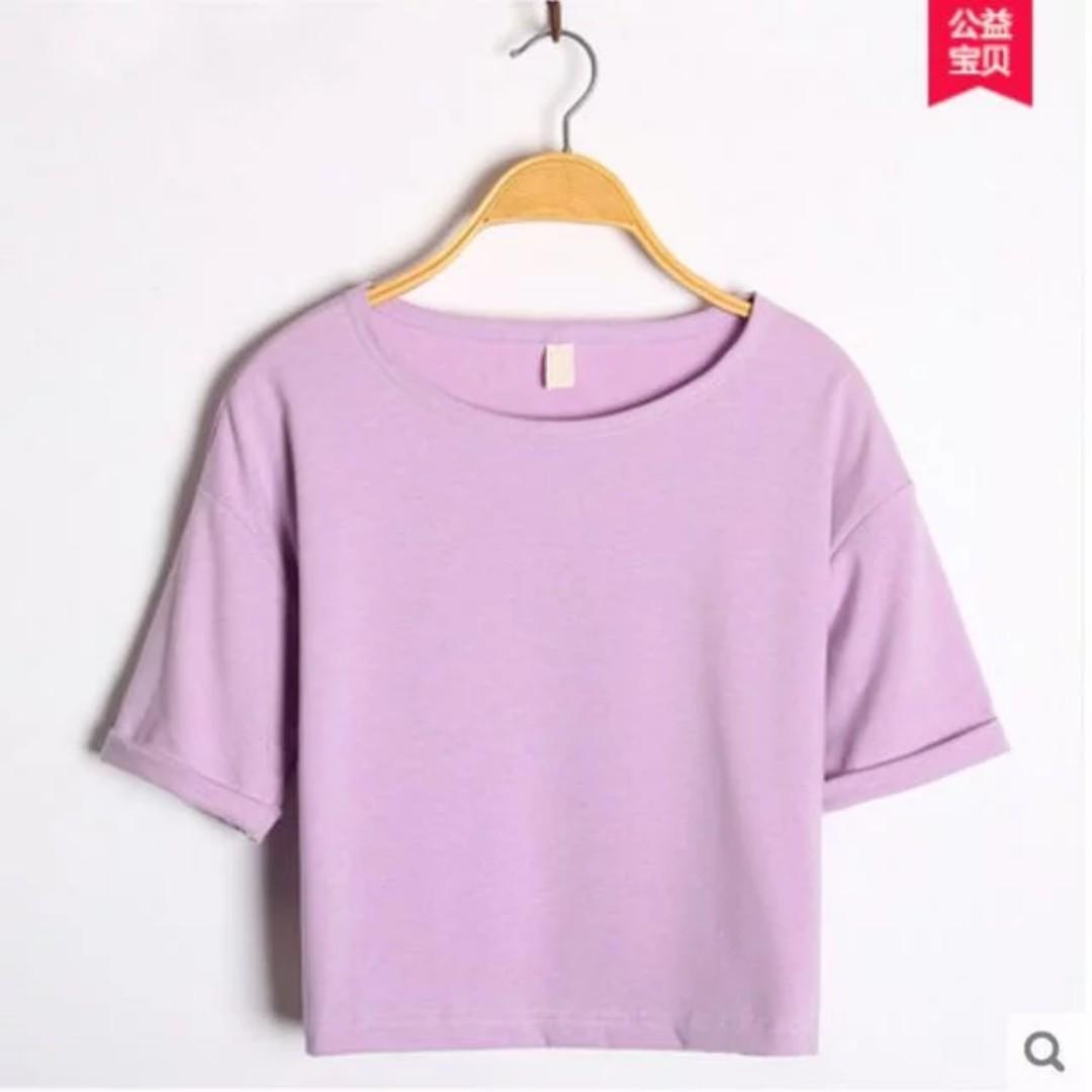 [3 for $15] Purple plain top