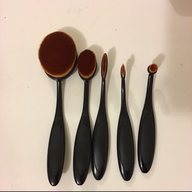 5 pcs Oval Brushes