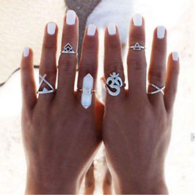 6 Piece Boho Ring Set