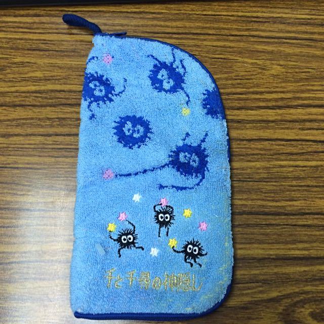 日本 神隱少女萬用毛巾布收納袋