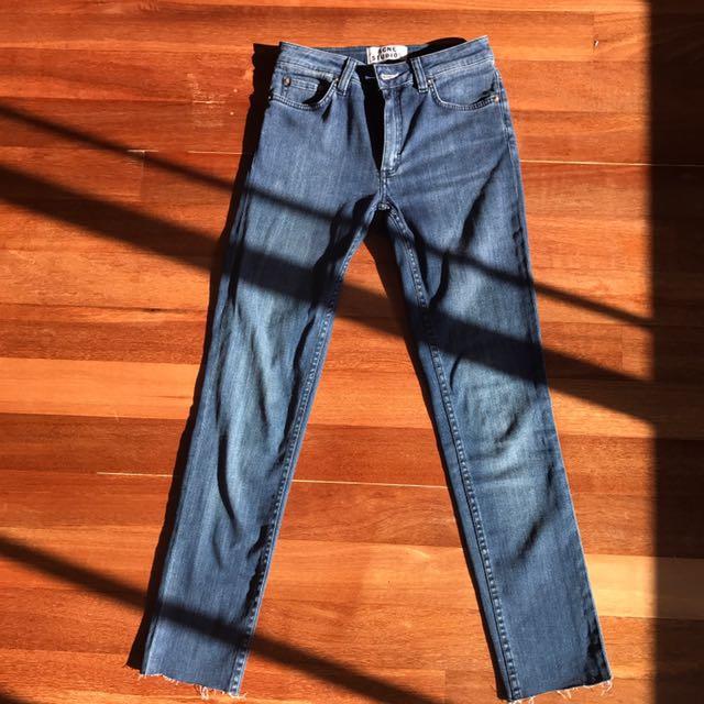 Acne Studios Flex S Atlantis Medium Waisted Jeans Size 25 (Cropped)
