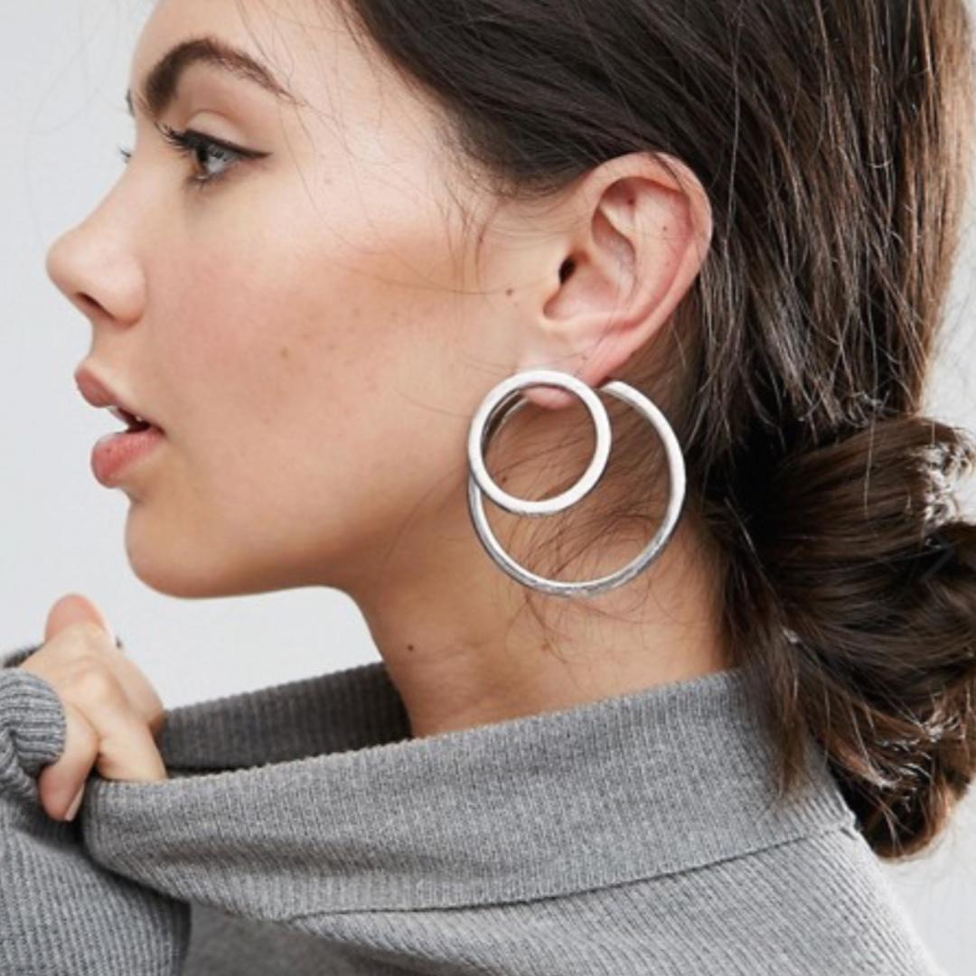 ASOS Statement Circle Swing Hoop Earrings